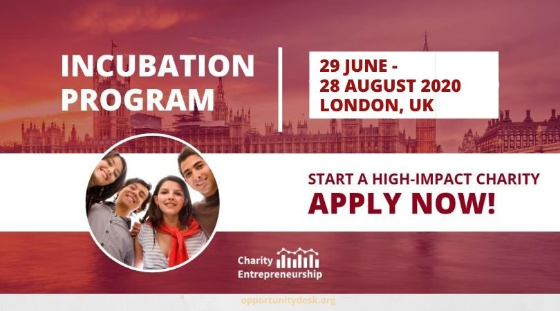 Seed Funding ($20,000 – $100,000) 2021 Charity Entrepreneurship Incubation Program