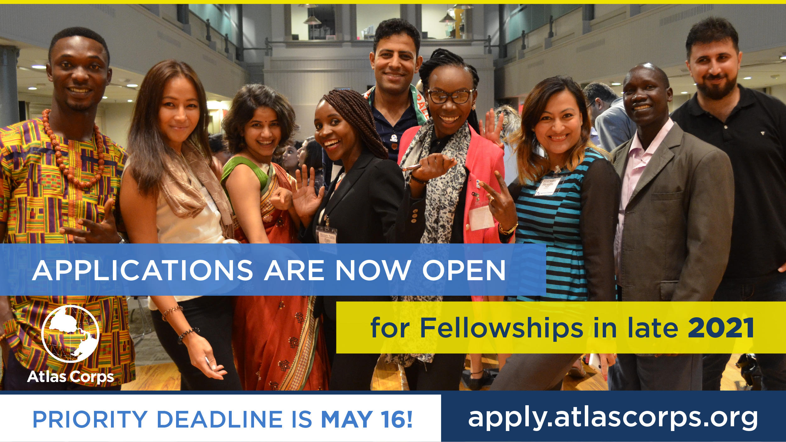 Atlas Corps Fellowship 2021 for Social Change Leaders (Fully Funded to the US)