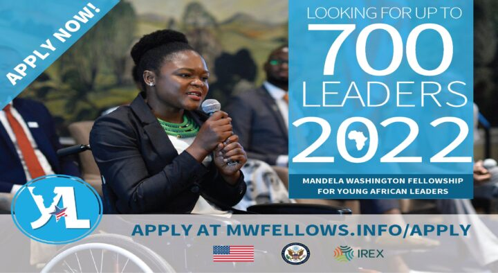 Open Applications: 2022 Mandela Washington Fellowship for Young African Leaders (Fully Funded to the US)